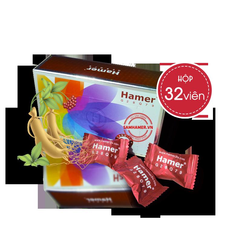 kẹo sâm hamer g28q79 hộp 32 viên